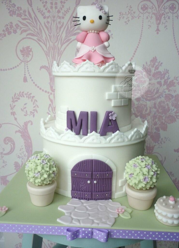 Hello Kitty Castle Birthday Cake