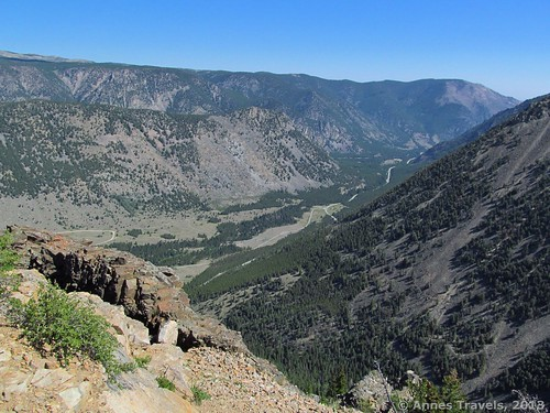 Looking east toward Red Lodge from Vista Point, Beartooth Highway, Custer National Forest, Montana