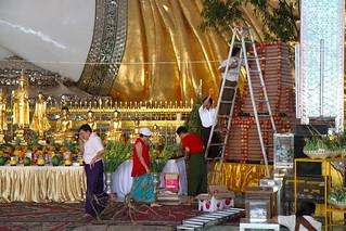 Image of  Paya Chaukhtatgyi  near  Yangon. travel buddha yangon burma myanmar chaukhtatgyipaya