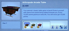 Arthropode Arcade Table