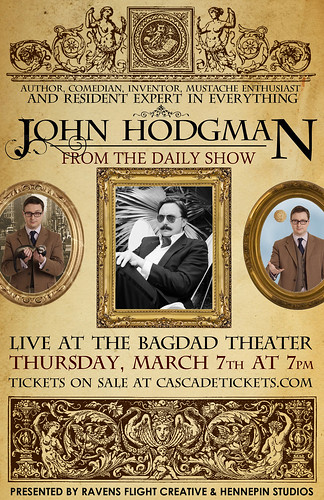 John Hodgman @ Bagdad Theater | Student Discount, The Daily Show, Wired, New York Times Magazine