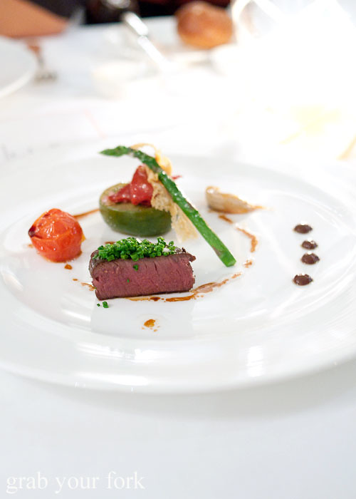 tajima beef tenderloin at the langham galileo restaurant sydney