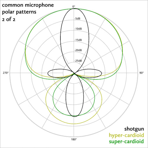 Common Microphone Polar Patterns 2
