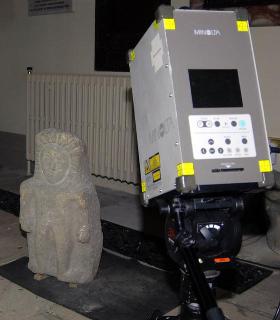 3D Laser scanning carved stonework