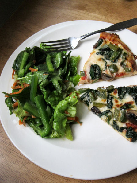 Small Side Salad with Veggie Pizza
