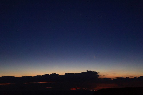 Comet PAN STARRS (C/2011 L4) over South West Wales starting to appear