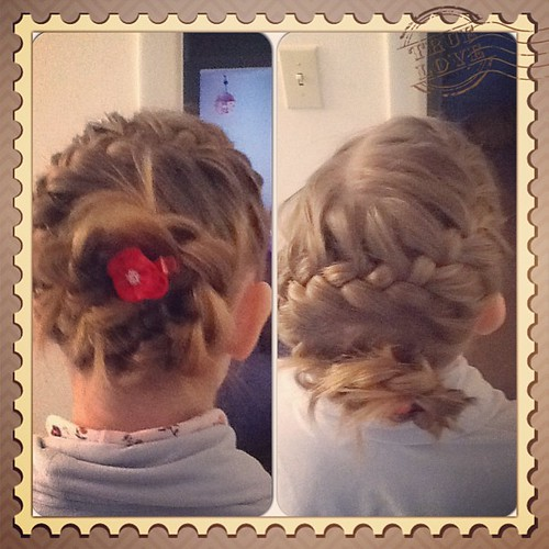 Baptism hair, take one!  #instacollage