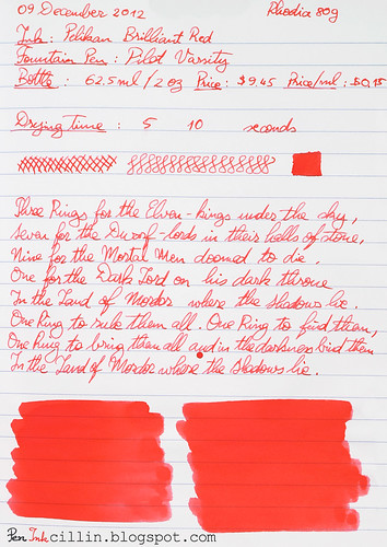 Pelikan Brilliant Red - Rhodia