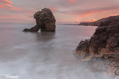 Sunset At Shot Rock by Dave Brightwell
