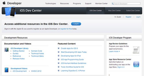 iOS Dev Center: Web para Desarrolladores de Apps