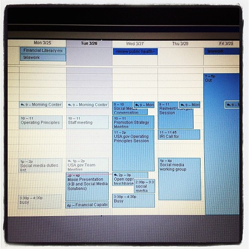 My calendar this week makes me want to cry. Is it the weekend yet?