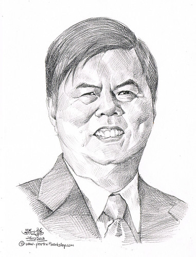 Pencil portrait for Chinese Swimming Club Danny Lee - 3