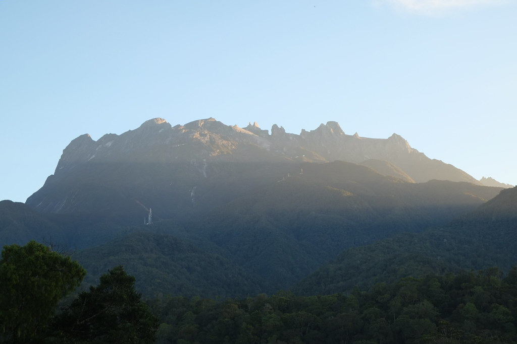 The view from Kinabalu Park on a fine clear morning