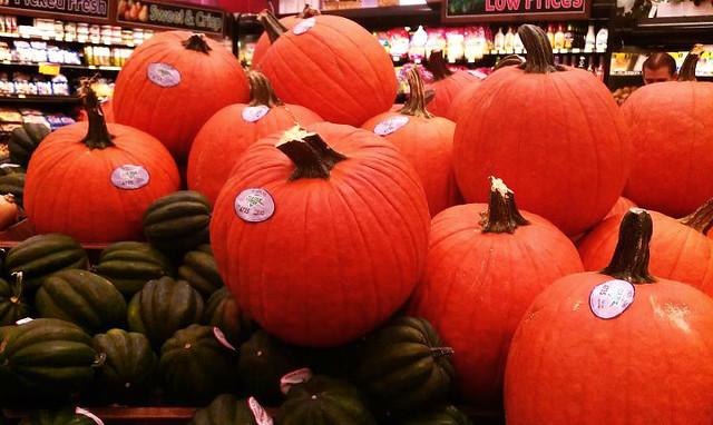 calabazas naranjas de Halloween