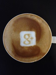 Today's latte, Google+.