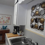 Tue, 04/02/2013 - 09:37 - Kitchen has stainless steel sink, coffee maker and place settings for six.