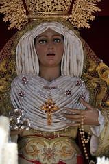 Plano medio del semblante de la Virgen de la Alegría de Linares, escultor Luis Álvarez Duarte