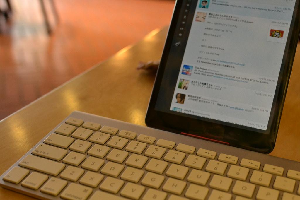 social media on a tablet
