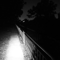 into darkness  we thread fear forgets (night ride with @_weili_ )