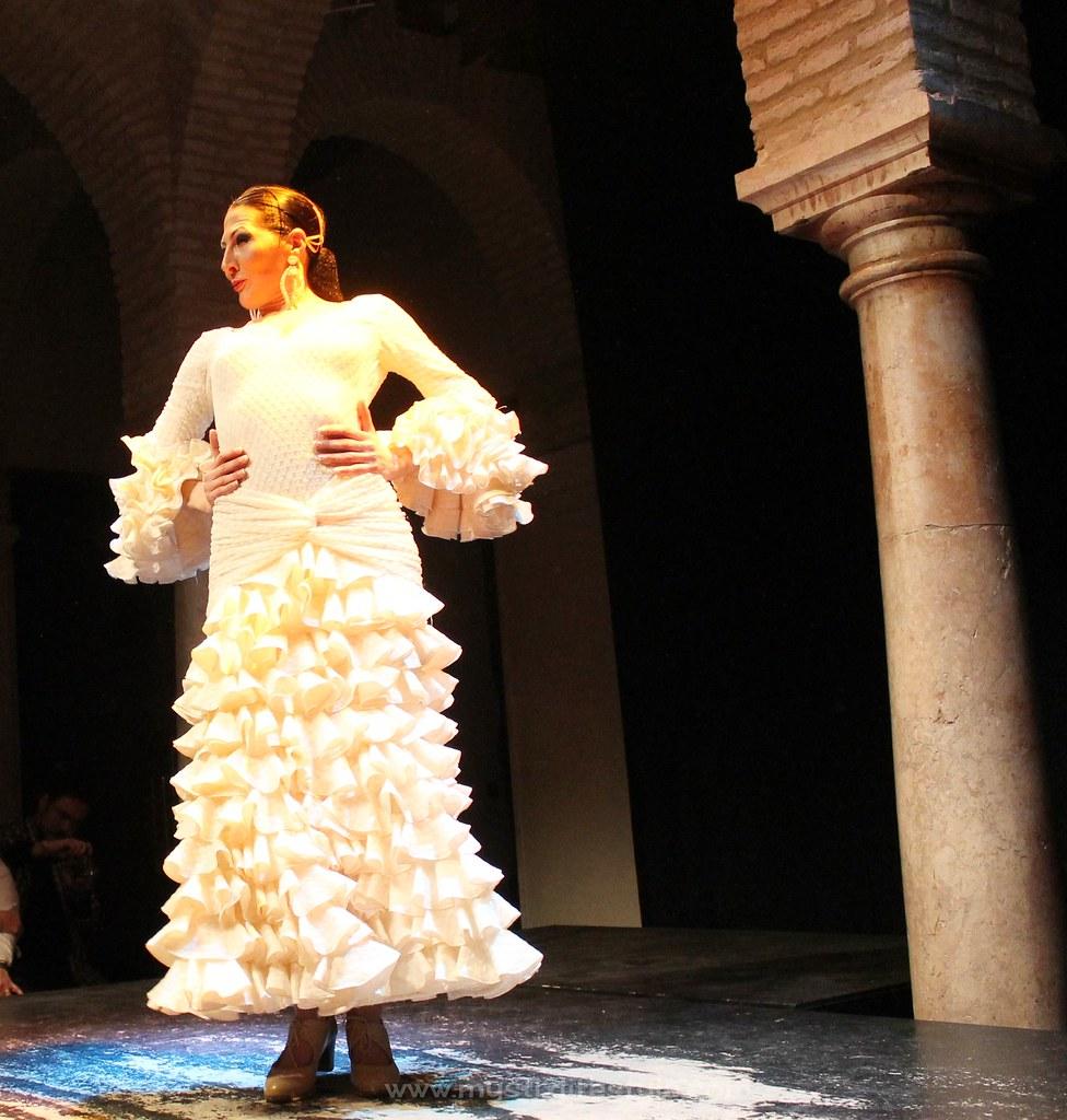 traje flamenca vintage blanco