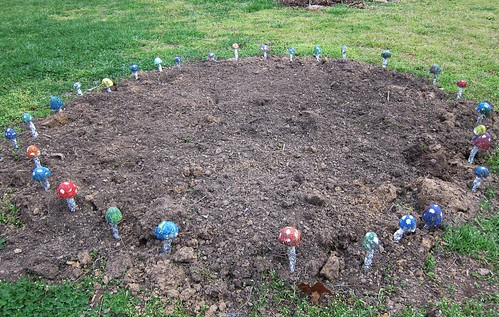 Fairy circle flower bed
