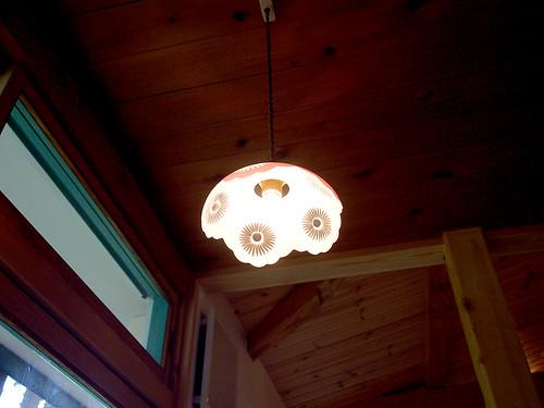 可愛らしいランプ照明