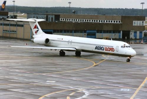 FRANKFURT JULY 1996 AEROLLOYD DOUGLAS MD80 D-ALLD