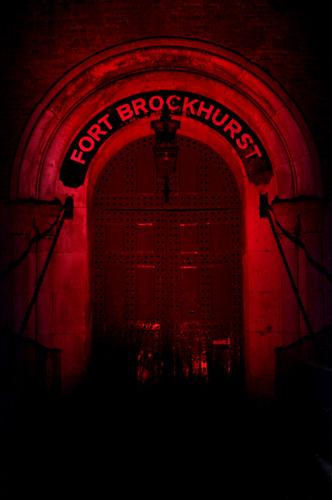 Fort Brockhurst Main Gate, Red Gel On Flash