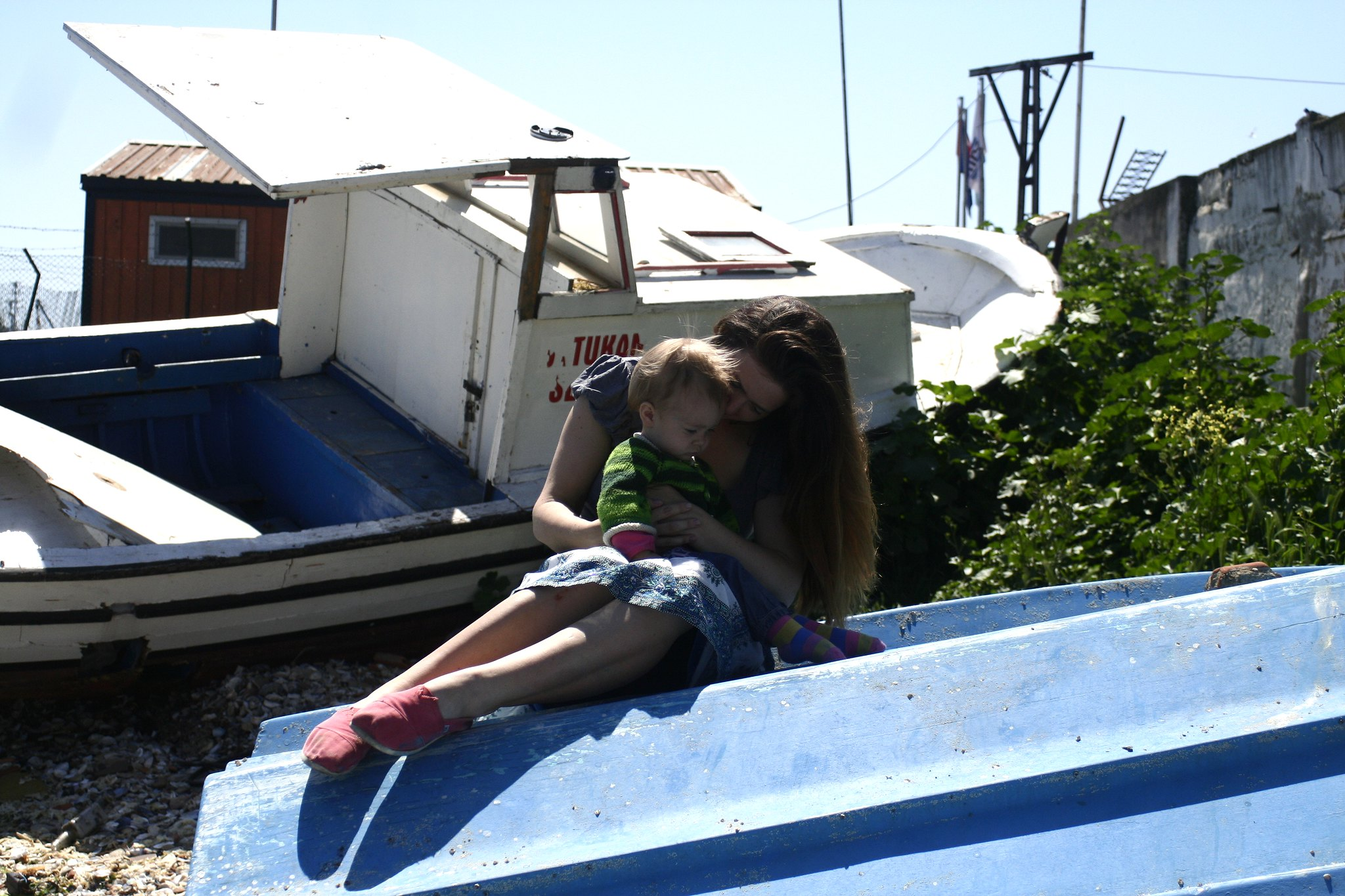 Me and Neve at the Heybeliada boatyard.