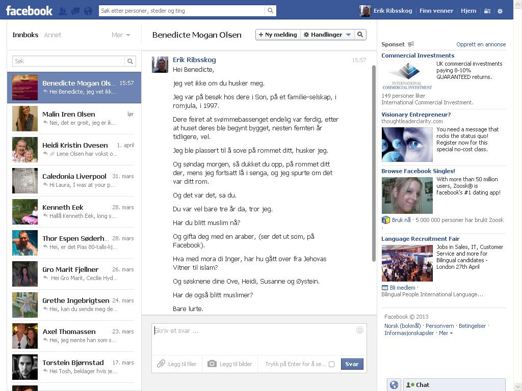 facebook benedicte