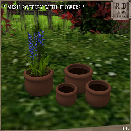 RnB Mesh Pottery - Bell Flowers (X)