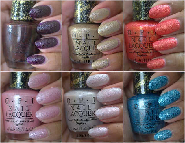 OPI Bond 007 Liquid Sands polishes