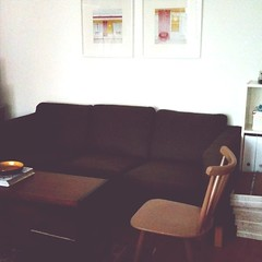Picked up the Karlanda sofa I scored yesterday on eBay...