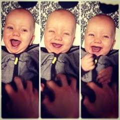 its hard to have a bad day when you can dispense baby giggles with the touch of a tickle button.
