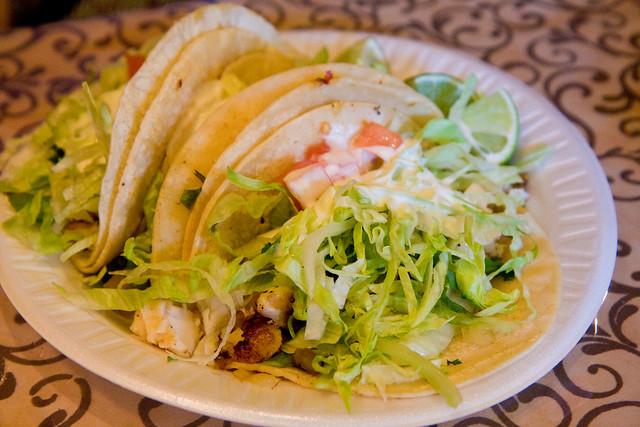 Fish tacos, Taqueria Cocoyoc