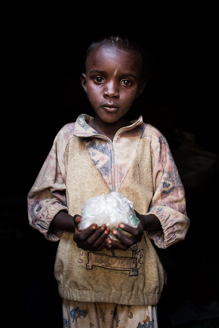 """Aladi, Diamond Collector, Central African Republic.<br /> <br /> """"One day, I want to be a diamond collector.""""<br /> <br /> Photo by Vincent Tremeau, 2014"""