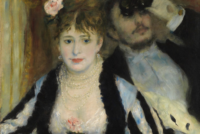 Detail of Pierre Auguste Renoir (1841-1919), La Loge (Theatre box), 1874, The Samuel Courtauld Trust, The Courtauld Gallery, London