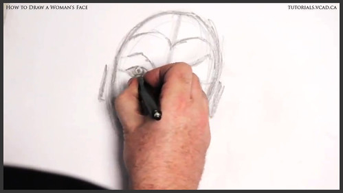 learn how to draw a womans face 011