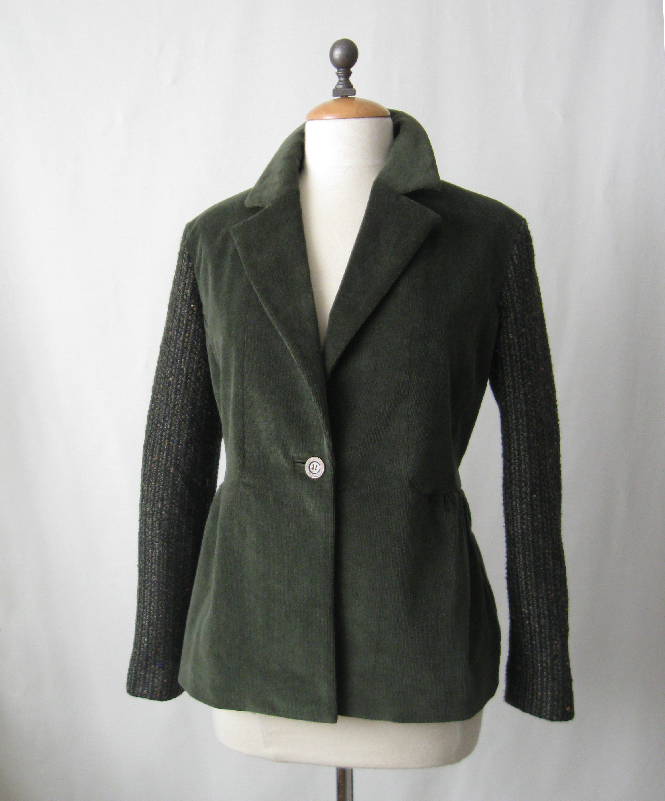 Olive cord jacket front