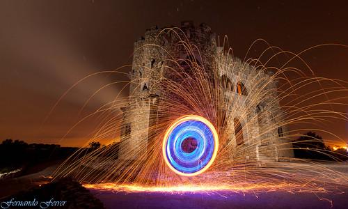 El Castillo encendido