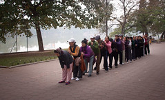 Morning Massage Exercises at Hoan Kiem Lake - Hanoi, Vietnam