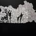 林羿束‧風的皺褶 III‧木刻版畫、油印手工棉紙‧ 62×39.5cm-15版‧2012