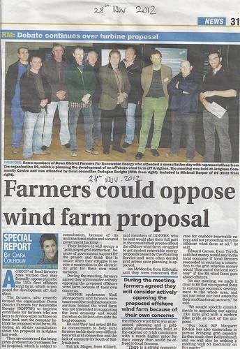 Ardglass 28 nov 2012 South Down Farmers consider opposing offshore  windfarm by CadoganEnright