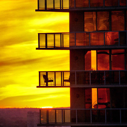 sunset building colors architecture florida miami ps balconies hdr photomix magicunicornverybest blinkagain creativephotocafe