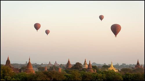 sky architecture sunrise balloons landscape temple dawn nikon ruins asia southeastasia view buddha burma stupa buddhist faith religion balloon scenic buddhism philosophy explore temples devotion vista myanmar artifacts pagan bagan airballoon explored afs70200mmf28gvrii mandalayregion d800e