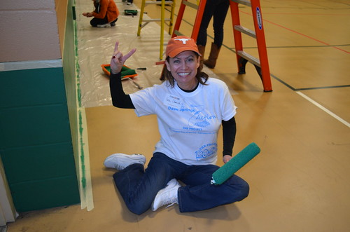 The Project 2013: Alumni paint, giving hook 'em