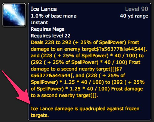 Ice Lance - Spell - World of Warcraft