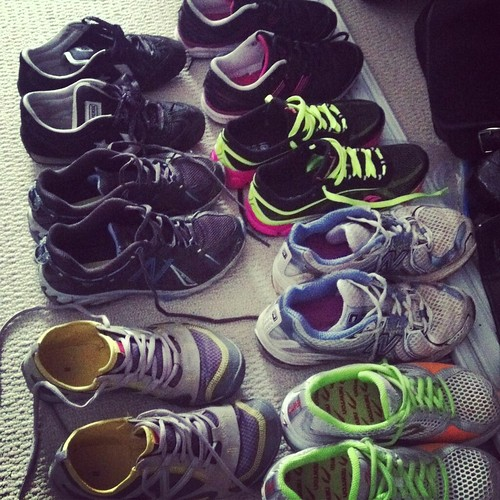 Running shoe collection