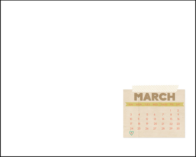 desktop calendar example