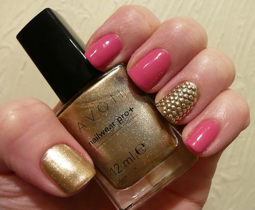 avon pink gold + studs 2